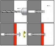 Aplikace KOS-C kotvy s hákem
